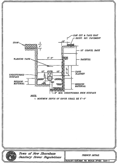 article a  - sanitary sewer